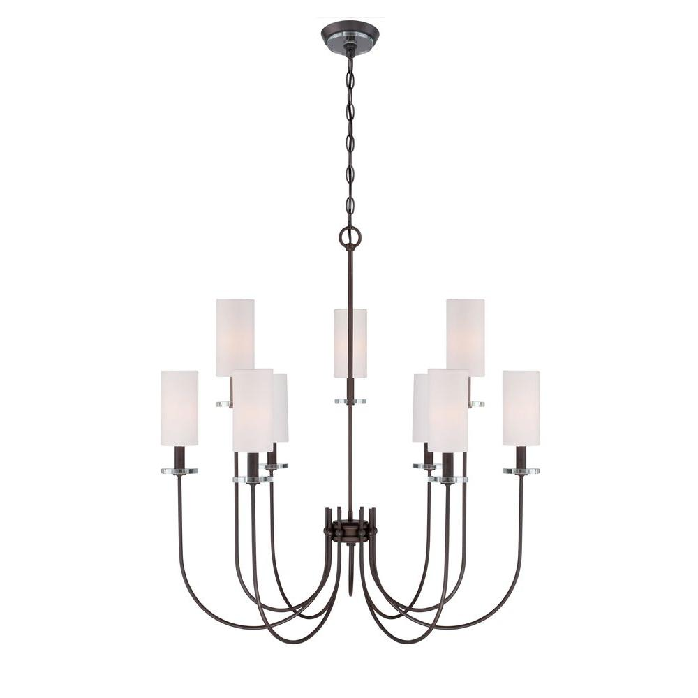 World imports monroe 9 light bronze chandelier wi973797 the home depot world imports monroe 9 light bronze chandelier aloadofball Images