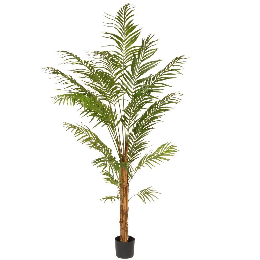 National Tree 7 ft. Deluxe Areca Potted Palm Tree, Green