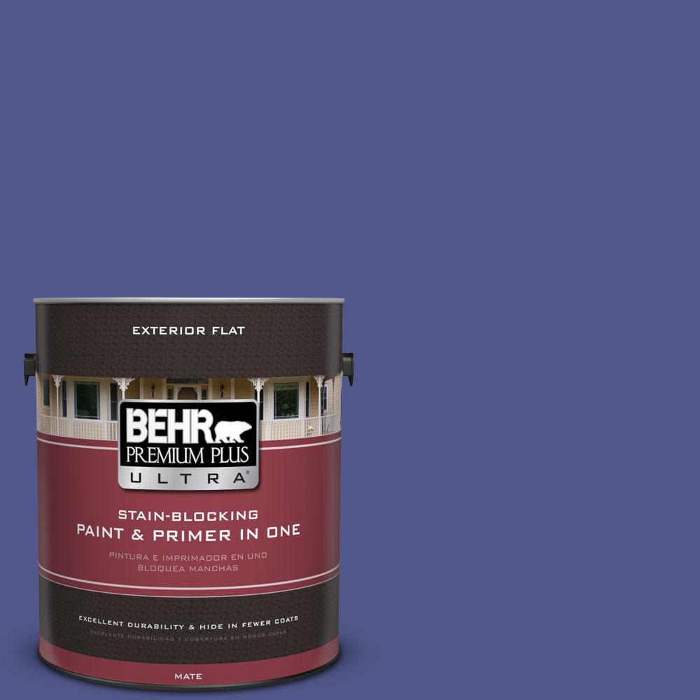 1-gal. #620B-7 Wild Elderberry Flat Exterior Paint