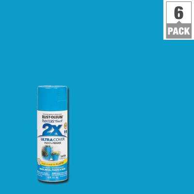 12 oz. Oasis Blue Satin General Purpose Spray Paint (6-Pack)