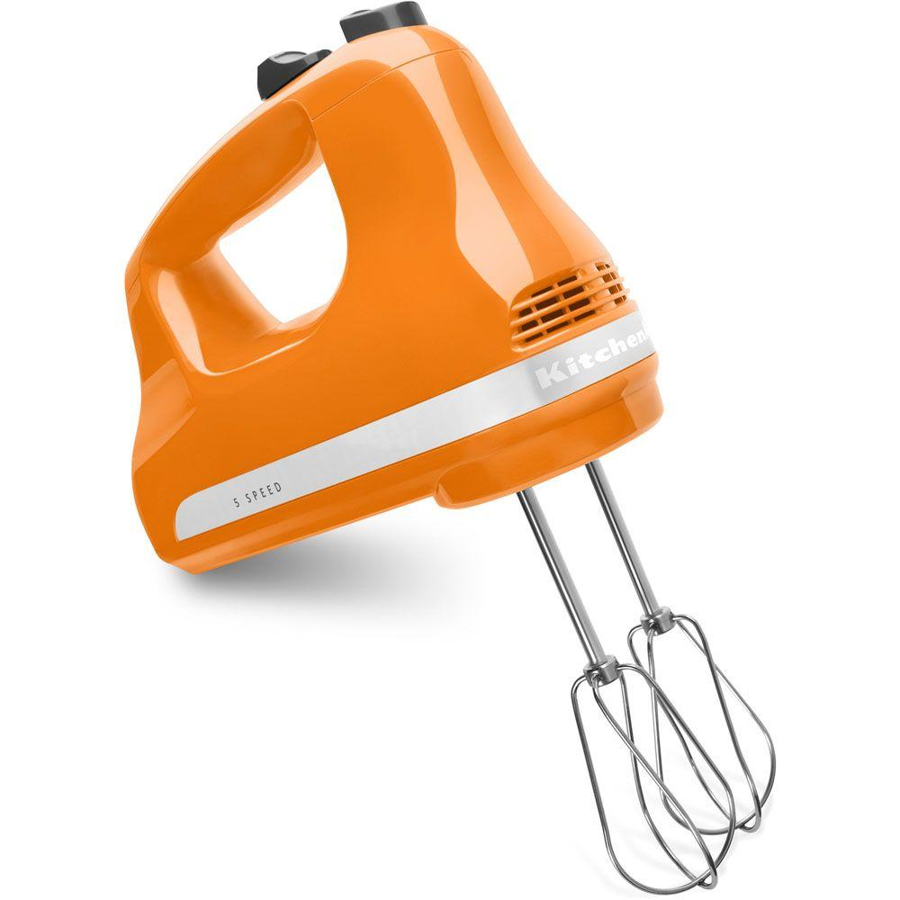 KitchenAid Ultra Power 5-Speed Tangerine Hand Mixer