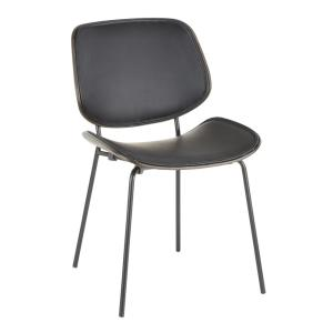 Industrial Style Leather Dining Chairs