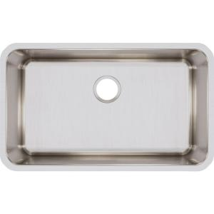 Lustertone Undermount Stainless Steel 31 in. Single Bowl Kitchen Sink with 11.5 in. Bowl