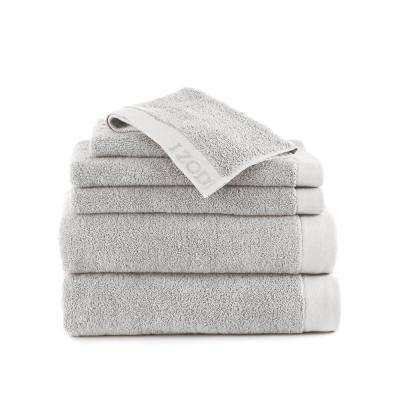 Classic 6-Piece Cotton Bath Towel Set in Glacier Gray