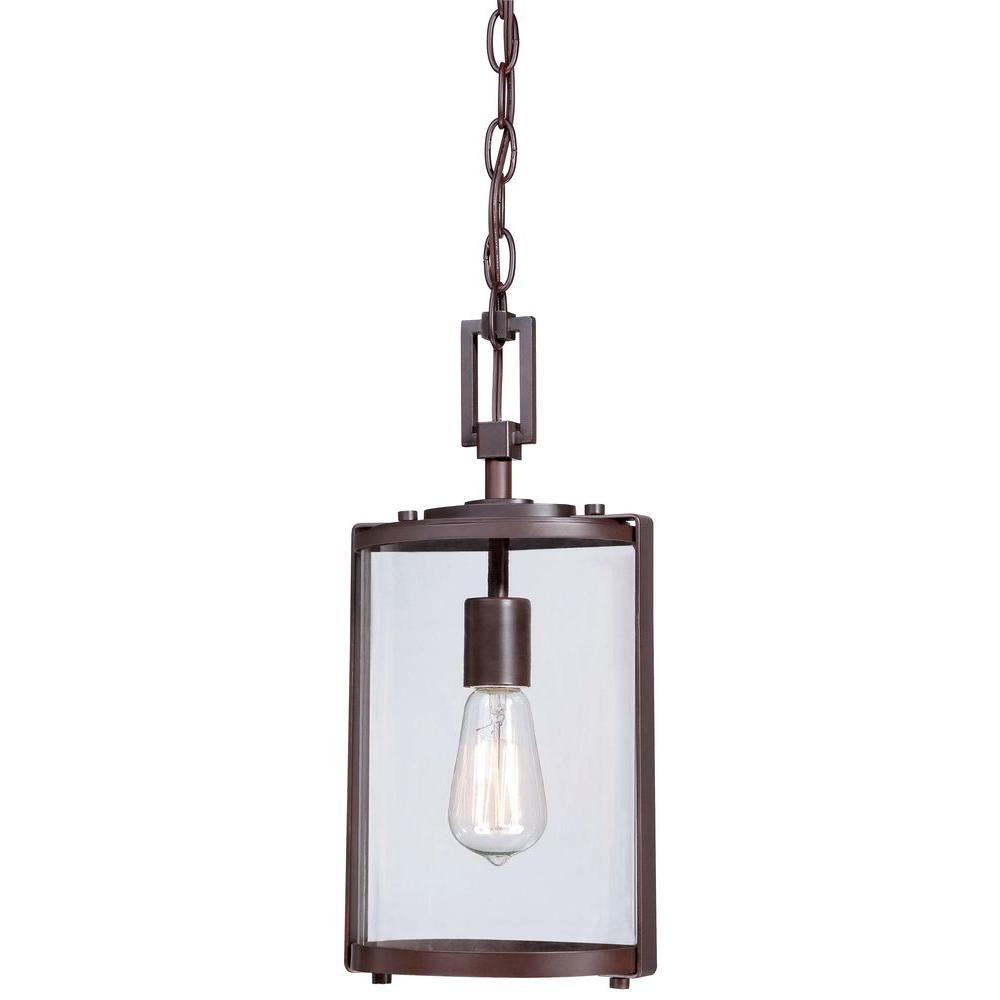 Ladera 1-Light Alder Bronze Outdoor Chain Hung