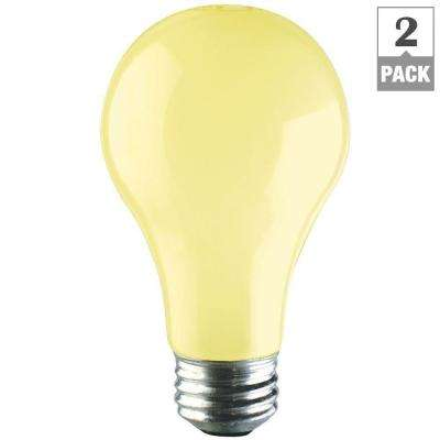 PLC 60-Watt A19 Incandescent Long-Life Bug Light Bulb (2-Pack)