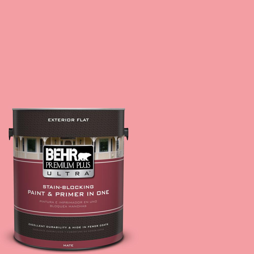 1-gal. #140B-4 Island Coral Flat Exterior Paint