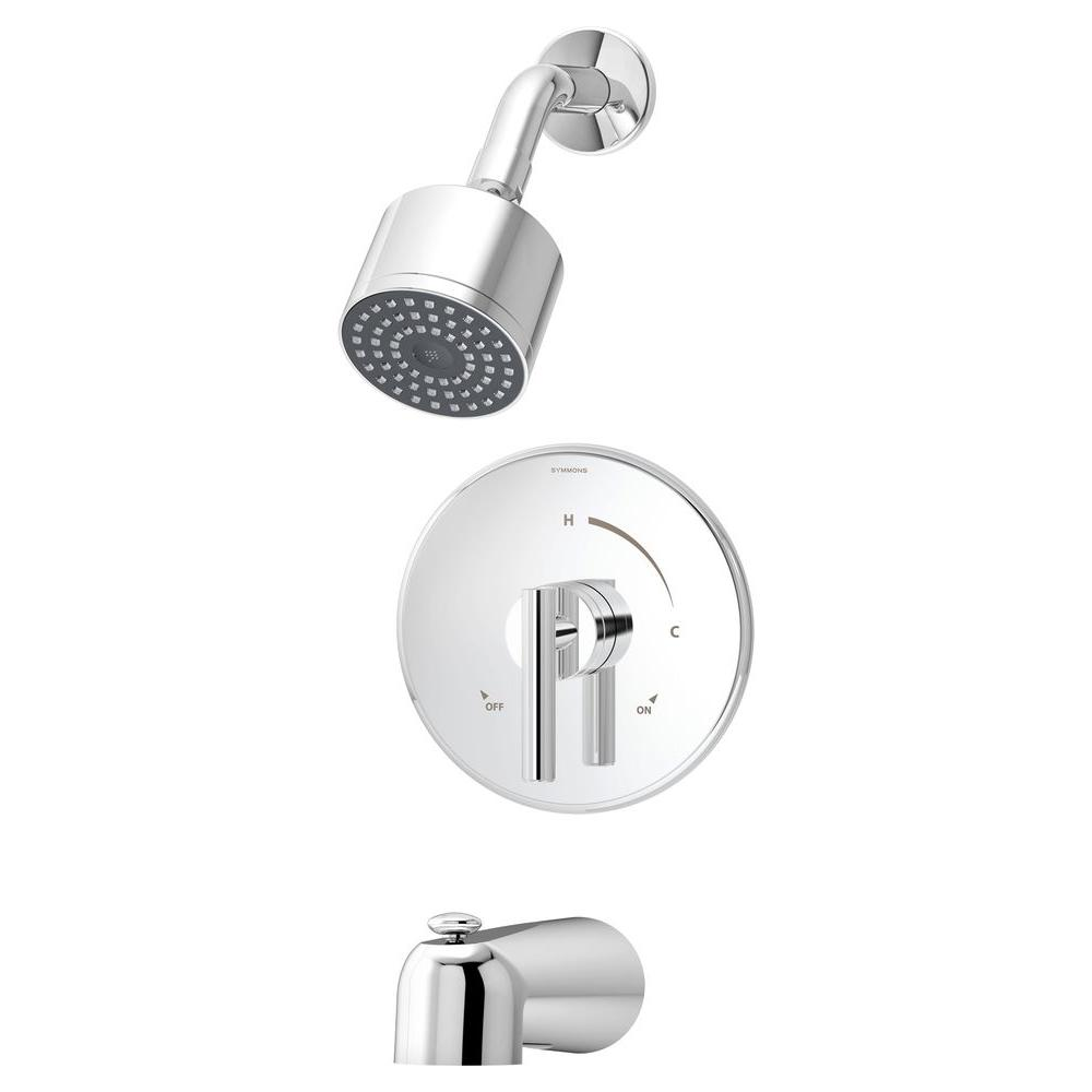 Symmons Dia Single-Handle 1-Spray Tub and Shower Faucet in Chrome ...