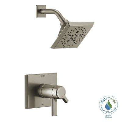 Pivotal TempAssure 1-Handle Wall-Mount Shower Trim Kit with H2Okinetic Technology in Stainless (Valve Not Included)