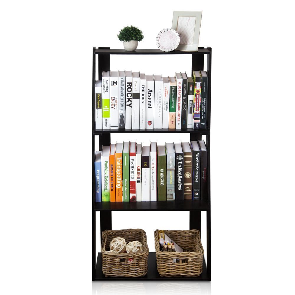 Hidup Tropika Espresso Ladder Bookshelf