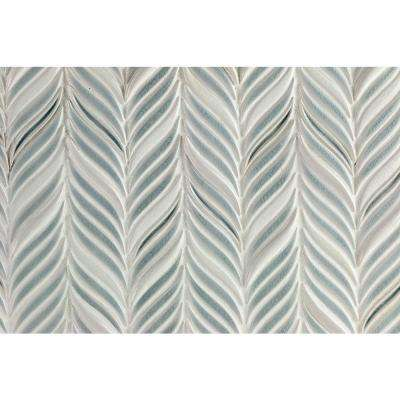 Oracle Alula Arctic Blue 10-1/4 in. x 11-7/8 in. x 10mm Glazed Ceramic Mosaic Tile