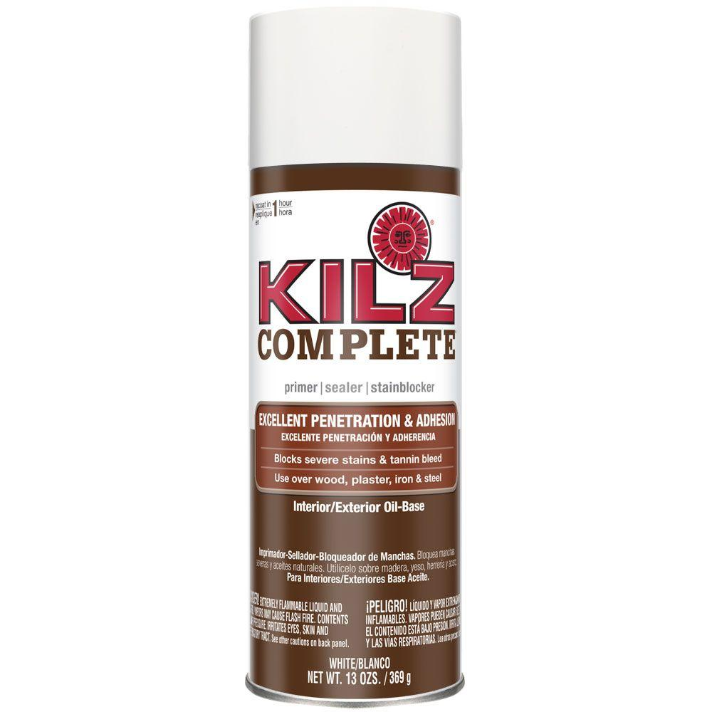 Kilz complete 13 oz white oil based interior exterior for Can you paint latex over oil based paint