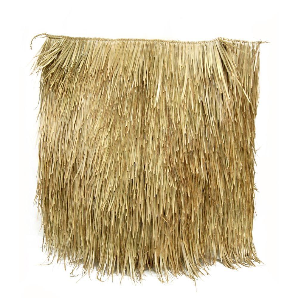 "35/"" X 8 FT Mexican Thatch Tiki PALM GRASS MAT ROLL BEST ON THE MARKET"