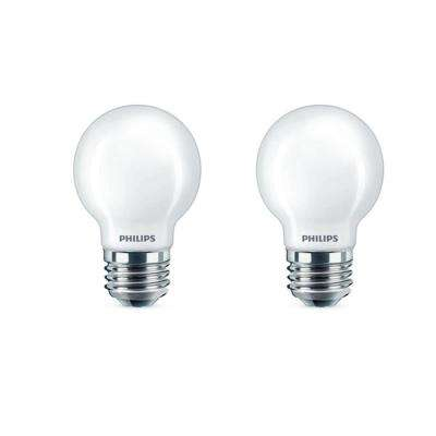 40-Watt Equivalent G16.5 Dimmable LED Light Bulb Soft White Frosted Globe (2-Pack)