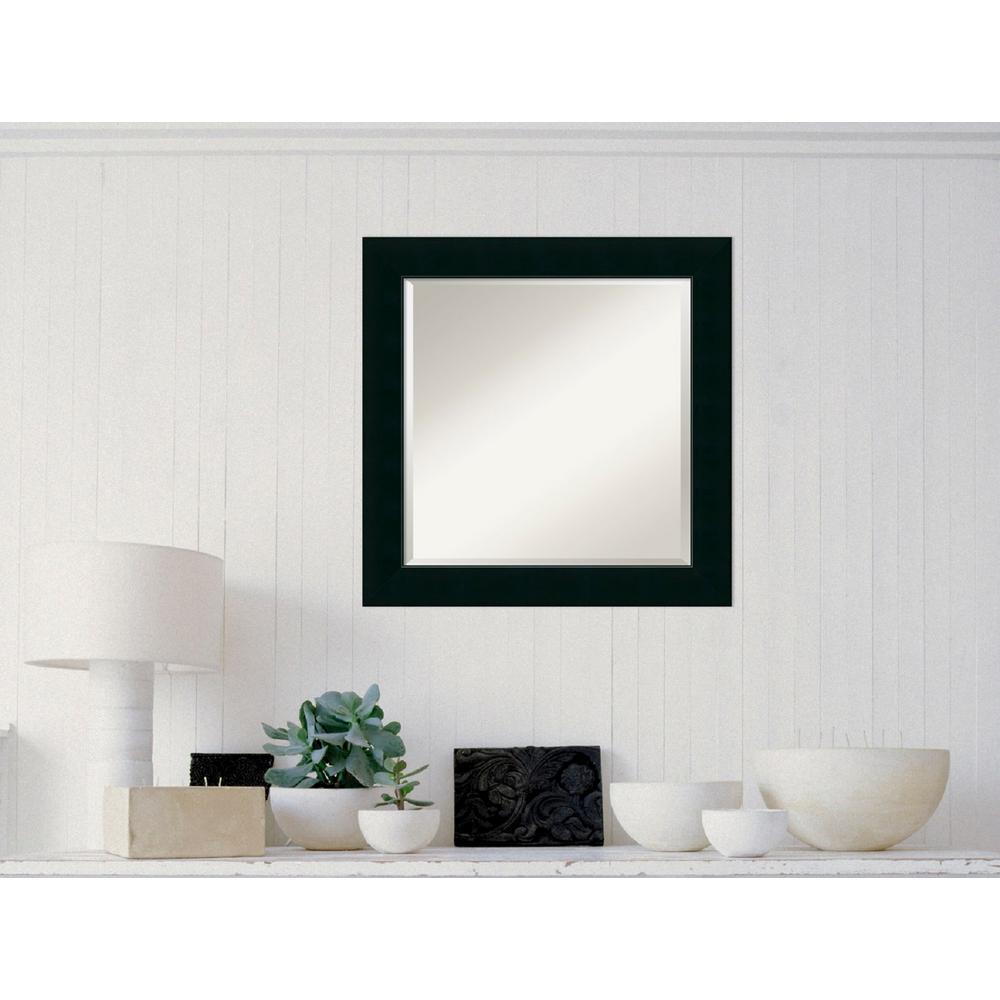 Amanti Art Corvino Black Wood 25 in. W x 25 in.
