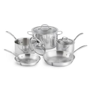 Deals on Calphalon Tri-Ply Stainless Steel 8-Piece Cookware Set