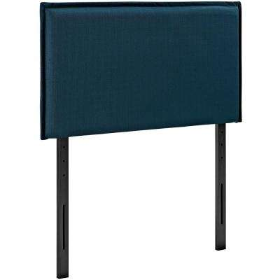 Camille Twin Upholstered Fabric Headboard in Azure