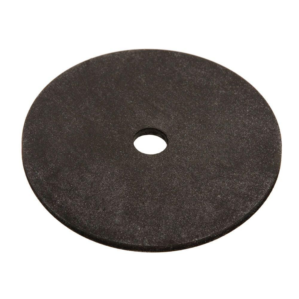 1/4 in. x 5/8 in. Black Neoprene Washer (4-Piece)