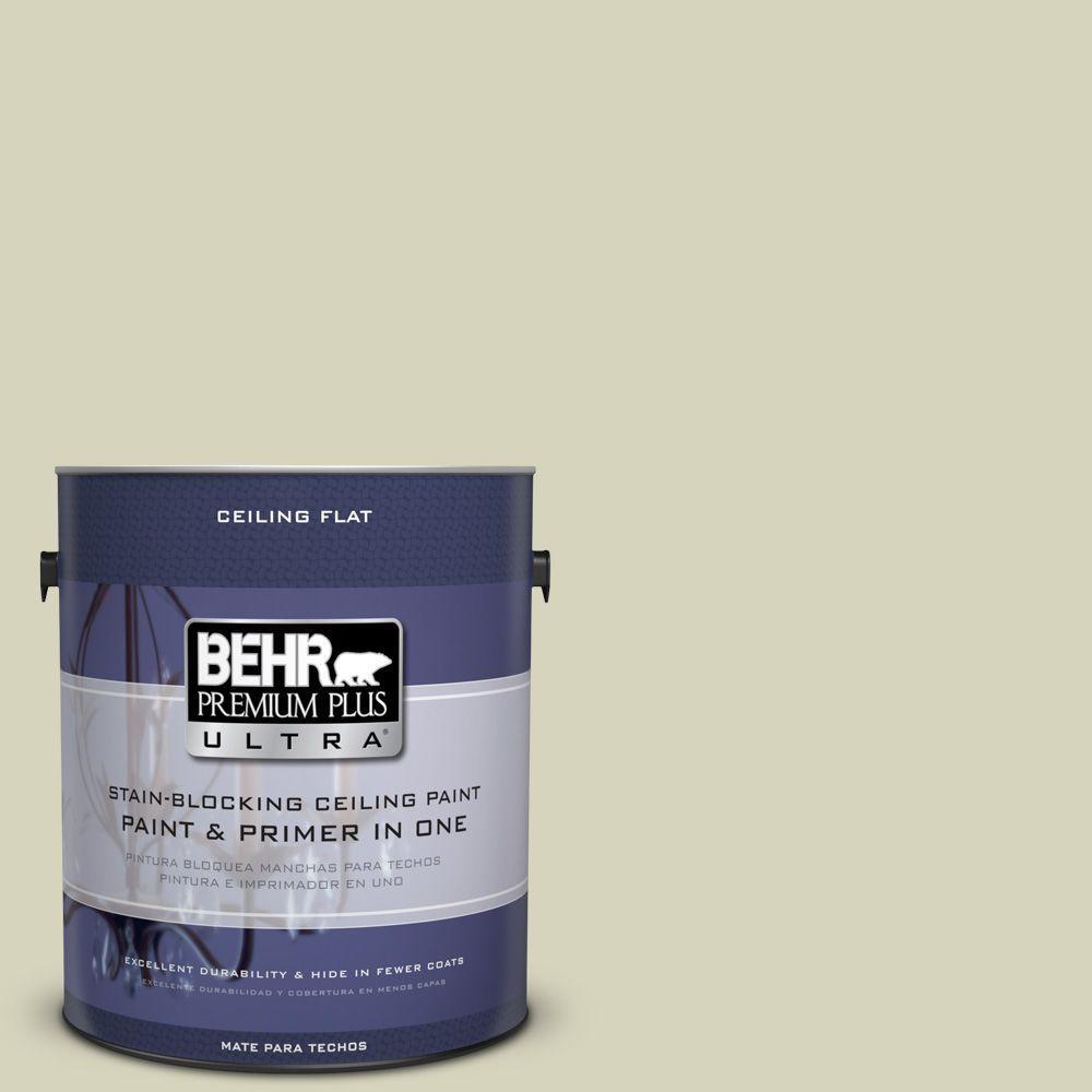 BEHR Premium Plus Ultra 1-Gal. No.UL200-13 Ceiling Tinted to Pale Cucumber Interior Paint