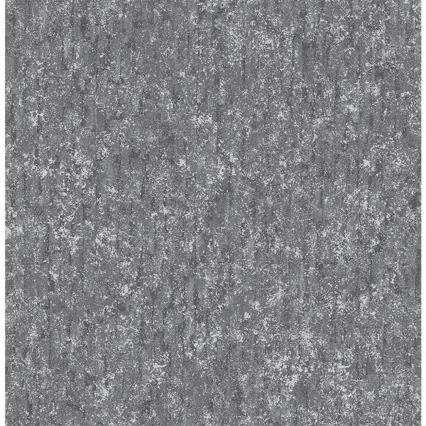 Brewster 56.4 sq. ft. Cole Dark Grey Winter Plain Wallpaper 2767-42026