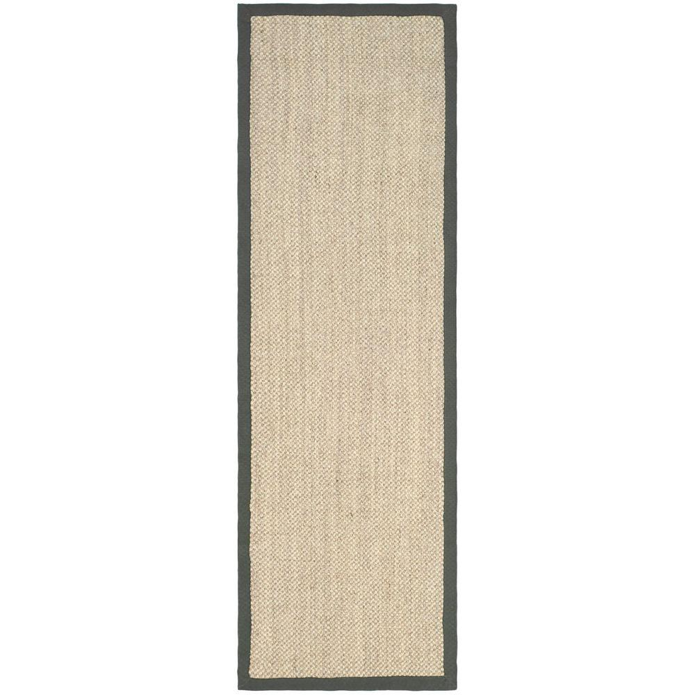 Safavieh Natural Fiber Marble/Grey 3 ft. x 10 ft. Indoor Runner Rug