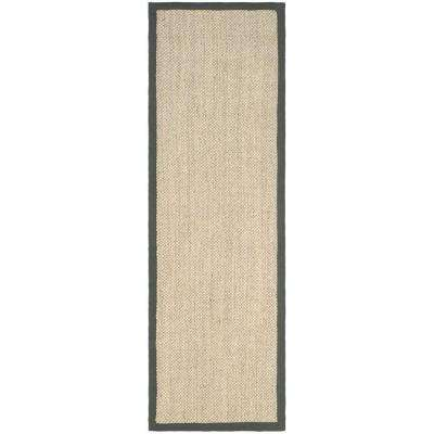 Natural Fiber Marble/Grey 3 ft. x 10 ft. Runner Rug