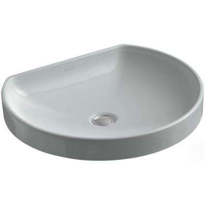 WaterCove Wading Pool Vitreous China Vessel Sink in Ice Grey