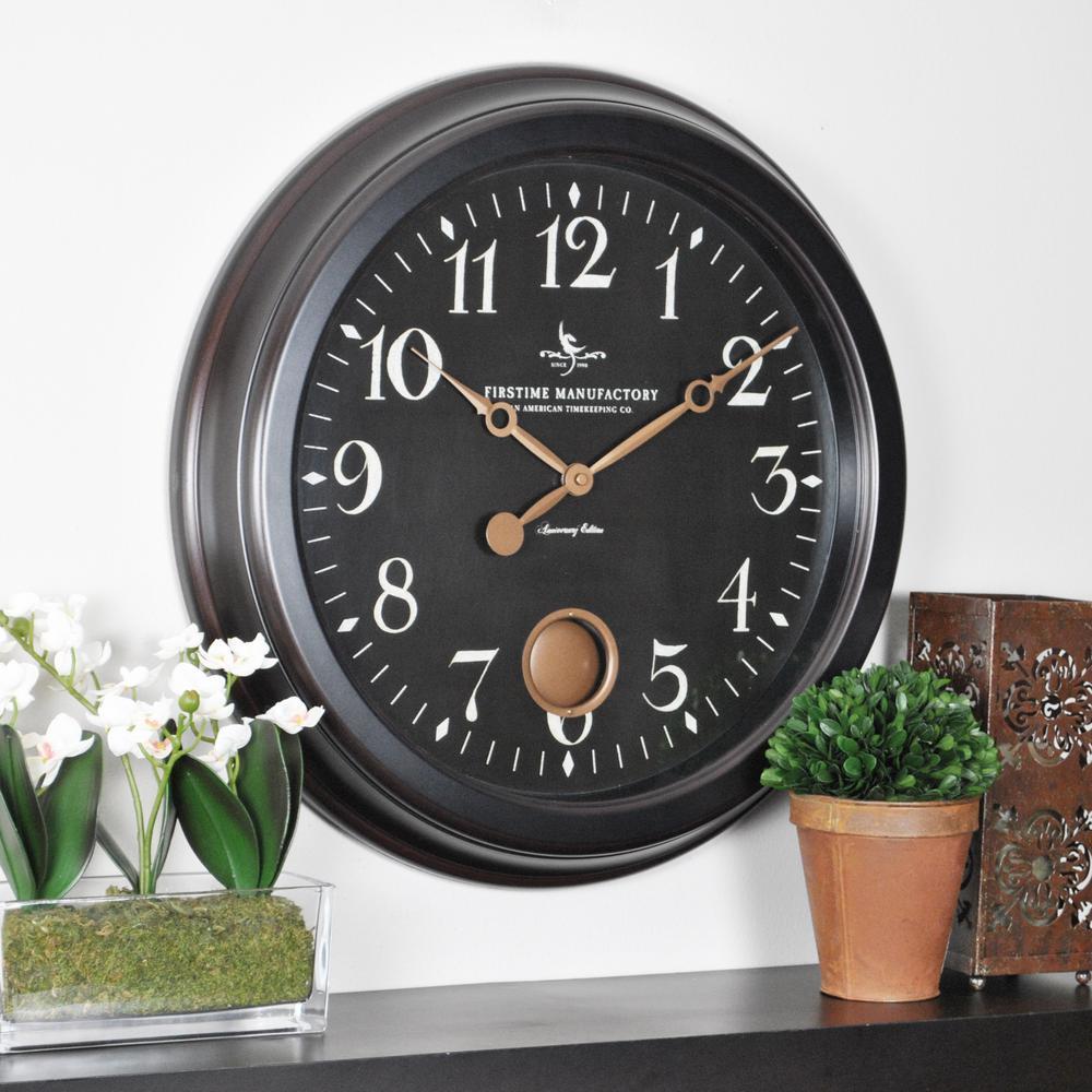19 in. H Cream City Wall Clock
