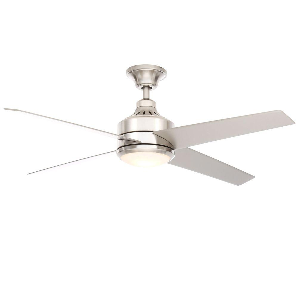 home decorators collection mercer 52 in brushed nickel ceiling fan14725 the home depot