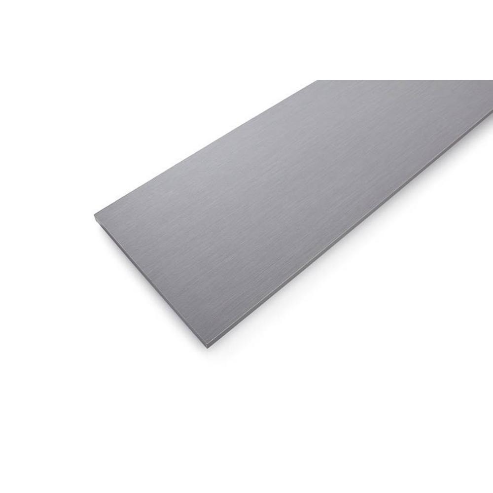 Gray Twill Laminated Wood Shelf 12 in. D x 72 in. L