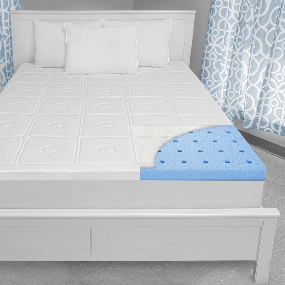 biopedic extreme luxury 3 in twin memory foam mattress topper 71058 the home depot. Black Bedroom Furniture Sets. Home Design Ideas