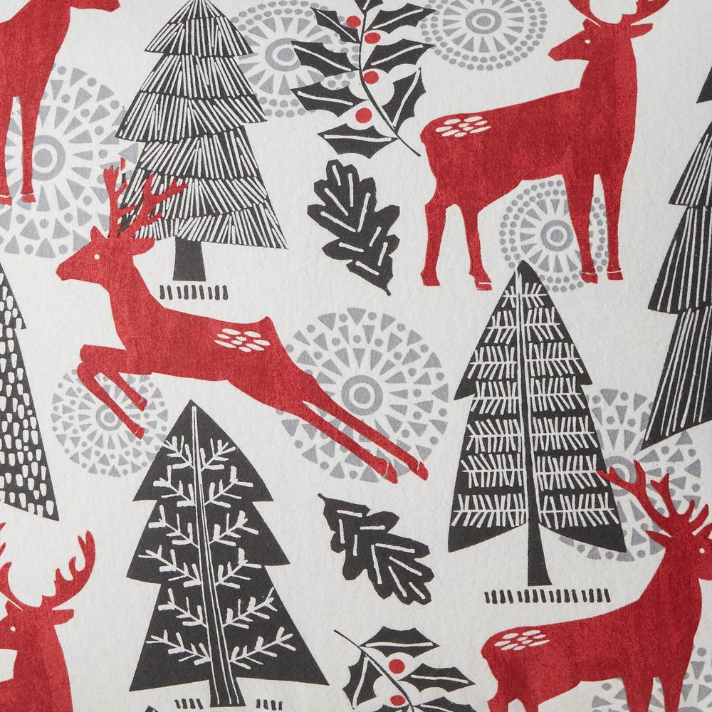 new 2 standard Snowflakes~Fir Trees~MOOSE gray and white easy care Pillowcases