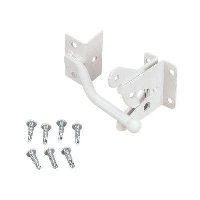 White Steel Gravity Latch Kit