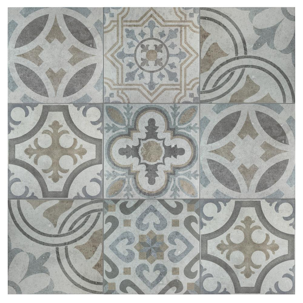 Merola Tile Llanes Jet Ceramic Floor and Wall Tile - 13-1/8 in. x 13-1/8 in. Tile Sample