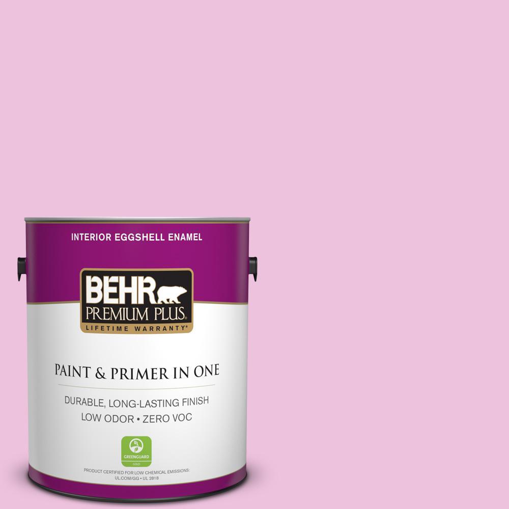 BEHR Premium Plus 1-gal. #P120-1 Starlet Pink Eggshell Enamel Interior Paint