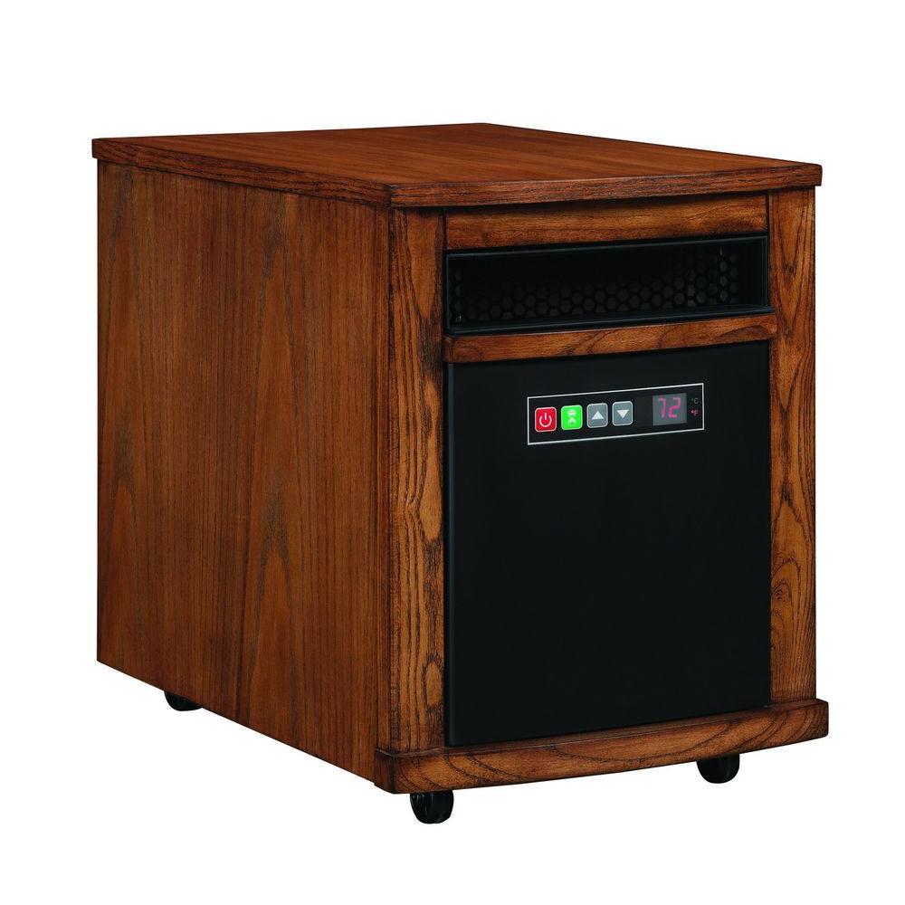 Twin Star 1500-Watt Infrared Portable Heater - Warm Oak