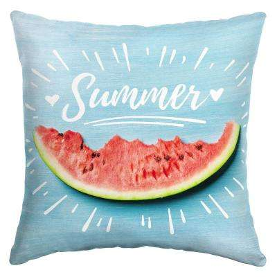 16 x 16 Summer Sketch Square Outdoor Throw Pillow