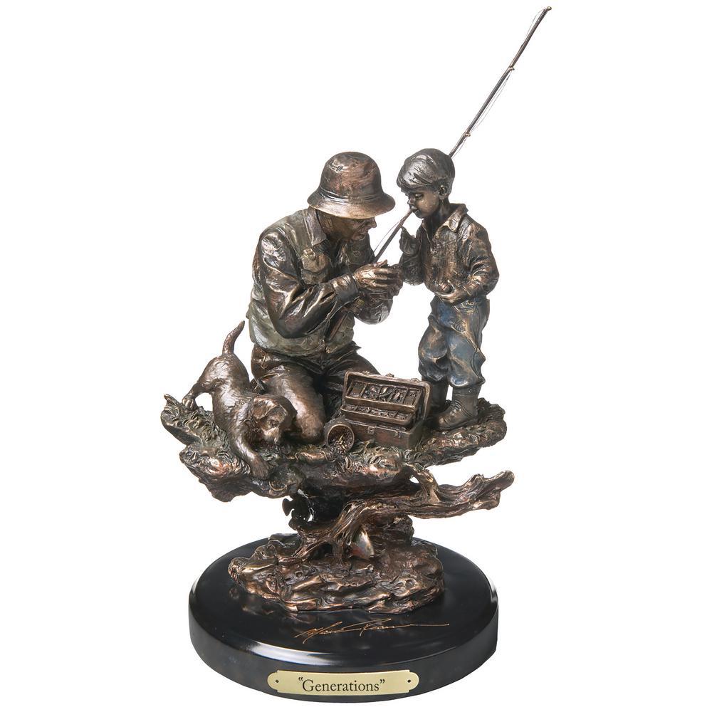 Generations Fishing Sculpture