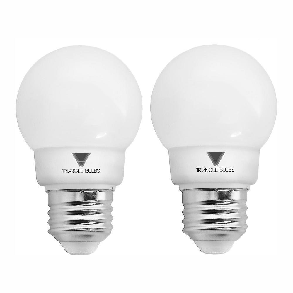 40-Watt Equivalent G16 Dimmable E26 Base LED Globe Light Bulb (2-Pack)