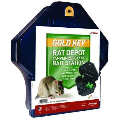 Gold Key Rat Depot Bait Station with Solid Lid