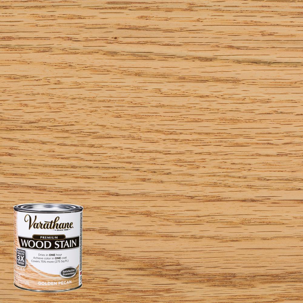 1 qt. Golden Pecan Premium Fast Dry Interior Wood Stain (2-Pack)