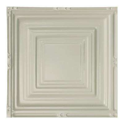 Syracuse Antique White 12 in. x 12 in. Nail-Up Ceiling Tile Sample