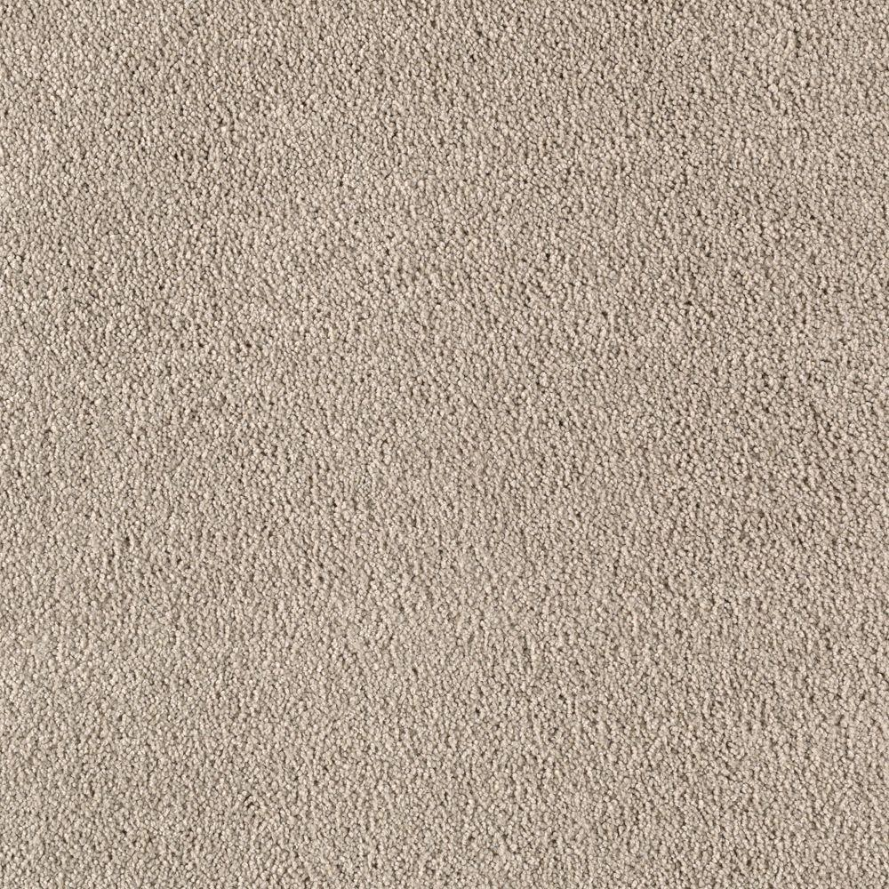 SoftSpring Cashmere II - Color Silver Stream Texture 12 ft. Carpet