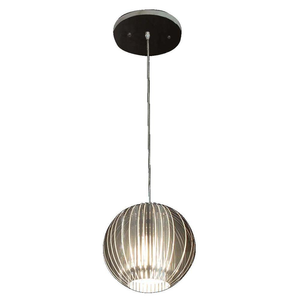 Trend Lighting Phoenix Collection 1-Light Satin Silver Incandescent Pendant