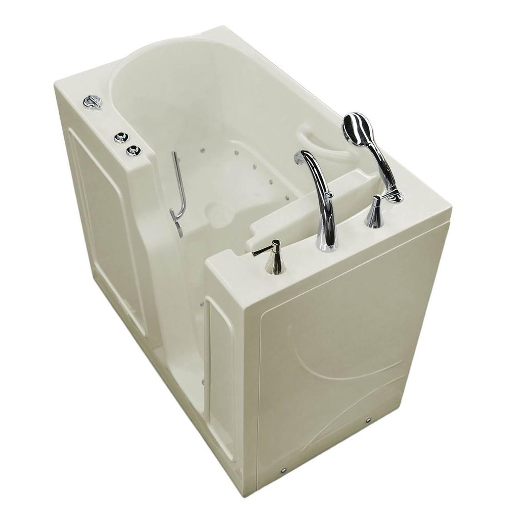 Universal Tubs Nova Heated 3.9 ft. Walk-In Air Jetted Tub in Biscuit ...