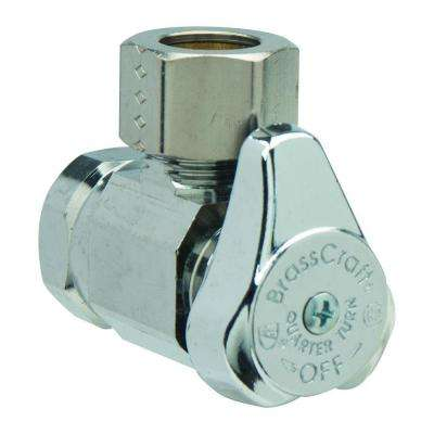 1/2 in. FIP Inlet x 1/2 in. O.D. Comp Outlet 1/4-Turn Angle Valve