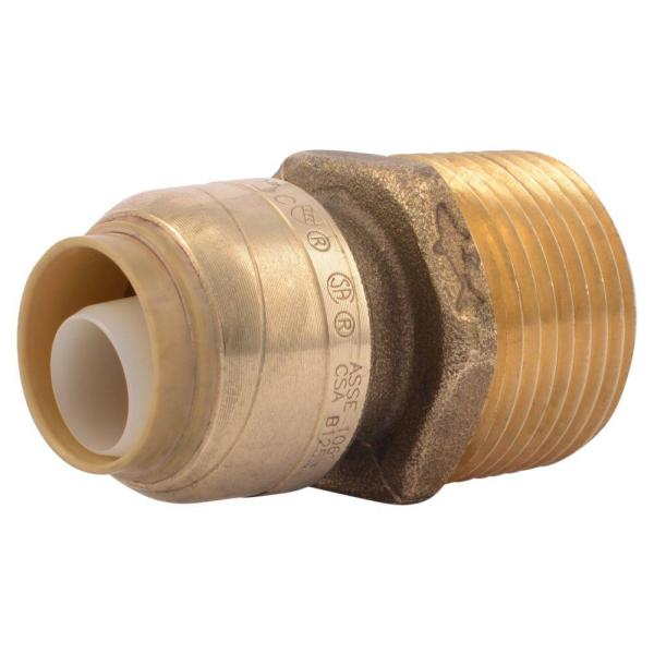 1/2 in. Push-to-Connect x 3/4 in. MIP Brass Reducing Adapter Fitting