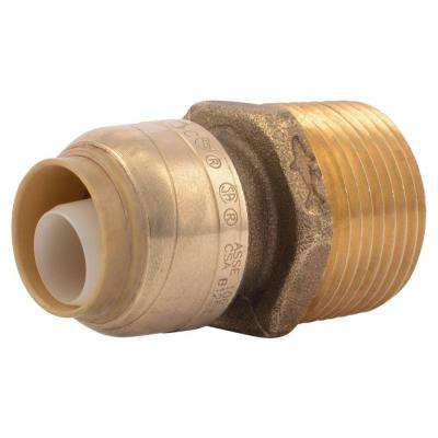 1/2 in. Brass Push-to-Connect x 3/4 in. Male Pipe Thread Adapter