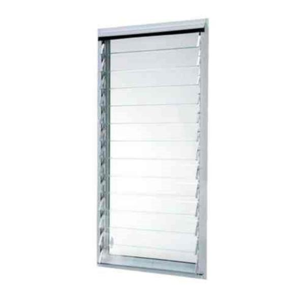 23 in. x 47.875 in. Jalousie Utility Louver Awning Aluminum Screen Window in White