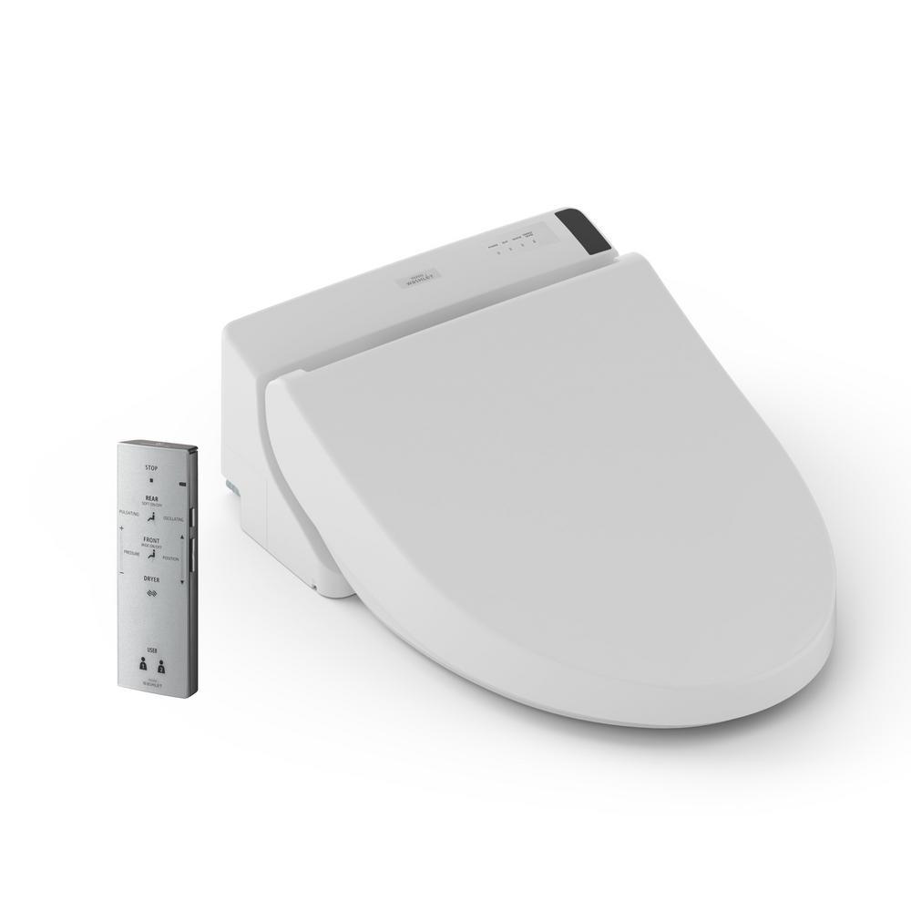 C200 Electric Bidet Seat for Round Toilet in Cotton White